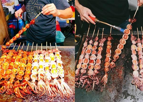 台南美食|樂樂腸|40公分長包著黃金魚蛋和熱狗的魷魚.花園夜市特色美食!