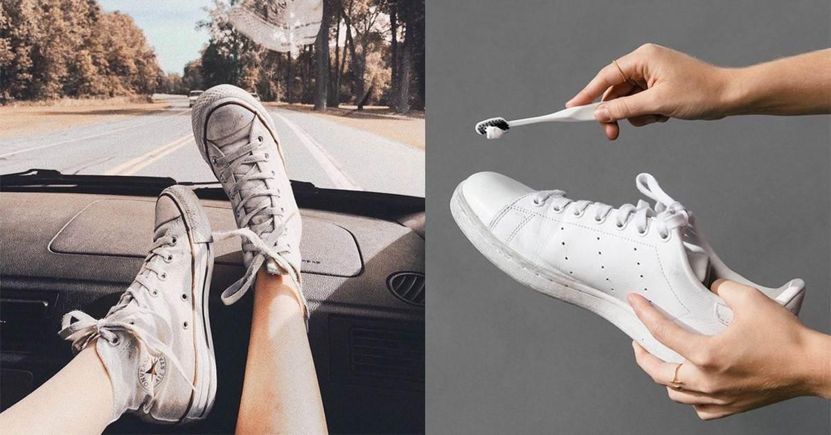 小白鞋越洗越黃?專家:洗鞋關鍵在「一張衛生紙」,就能把舊鞋變回全新的一雙啦!