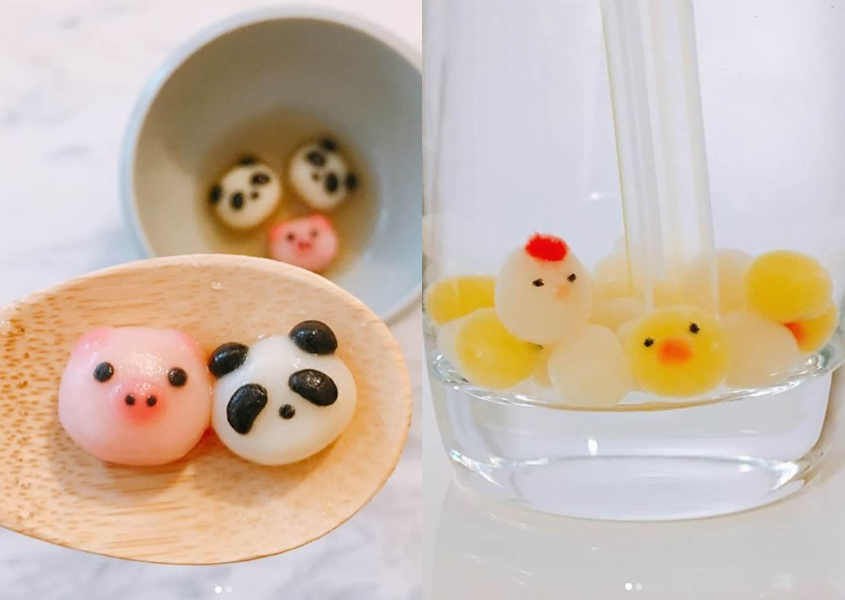 來點不一樣的珍奶吧❤特搜超繽紛的動物珍珠系列,這款熊貓、豬豬造型你捨得咬嗎?