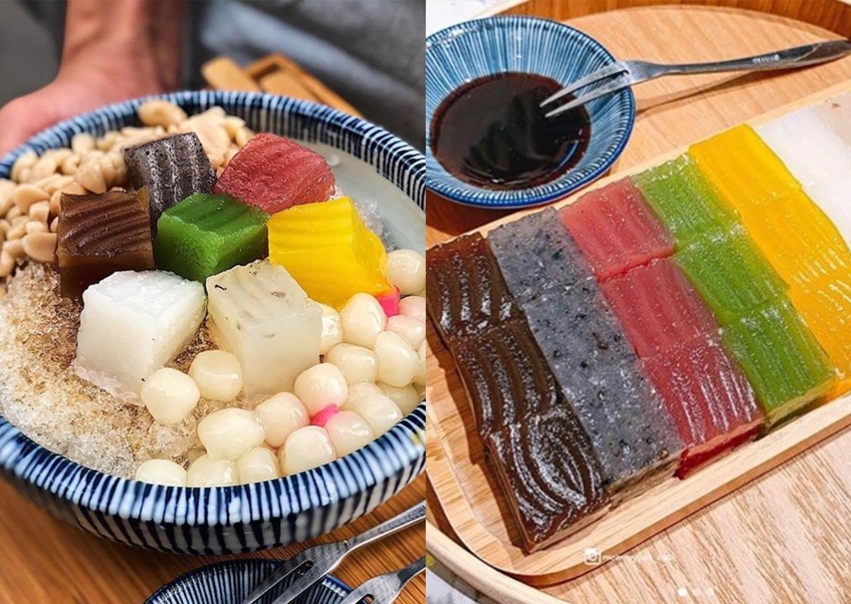 七種口味通通有♥吃完絕對回訪的「繽紛系粉粿」雪花冰,淋上滿滿黑糖就是過癮~