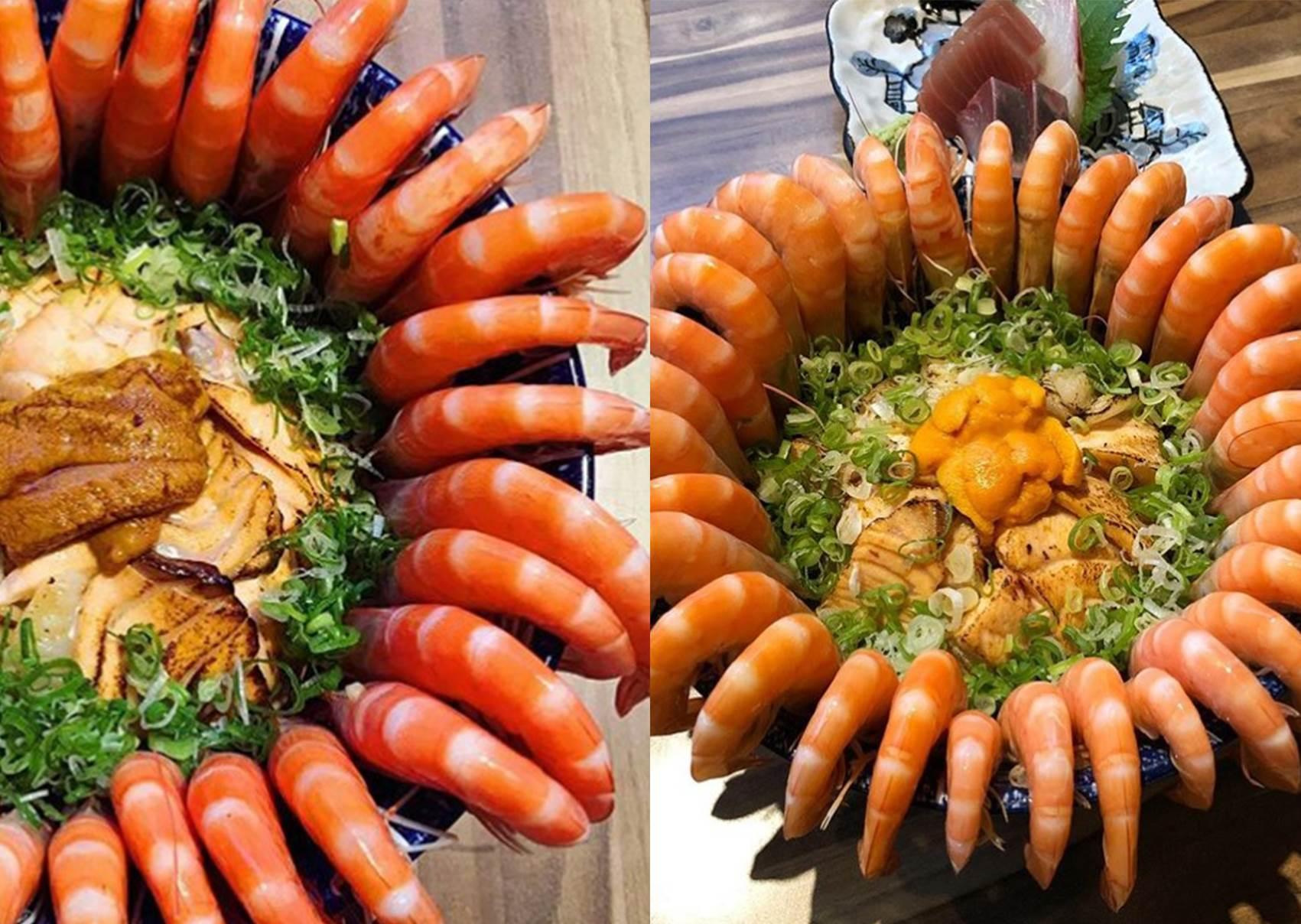 滿滿蝦子剝到手痠啦!澎湃系「鮮蝦爆丼」只有台南才吃的到,大口吃蝦根本讓人幸福到痛風~