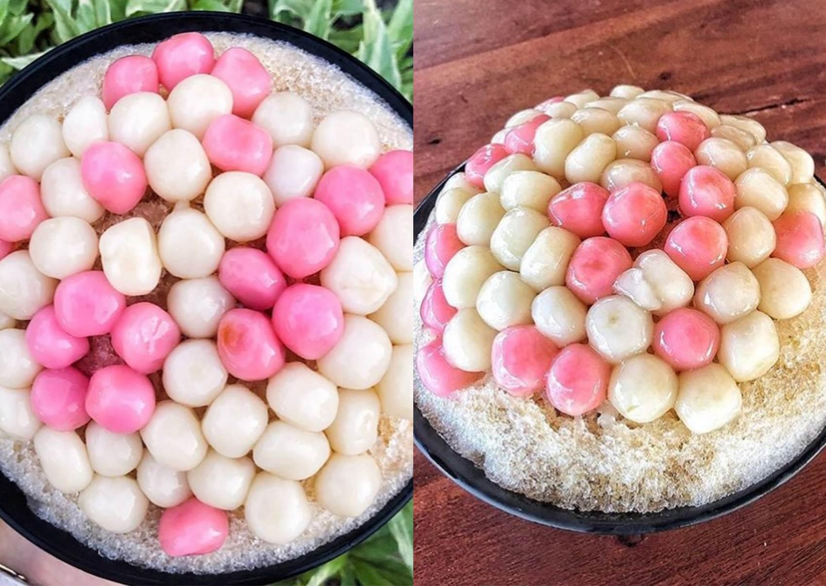 整碗湯圓鋪滿滿!超佛系平價「古早味湯圓冰」,爆料紅白圓讓你吃一碗能省兩餐呀~