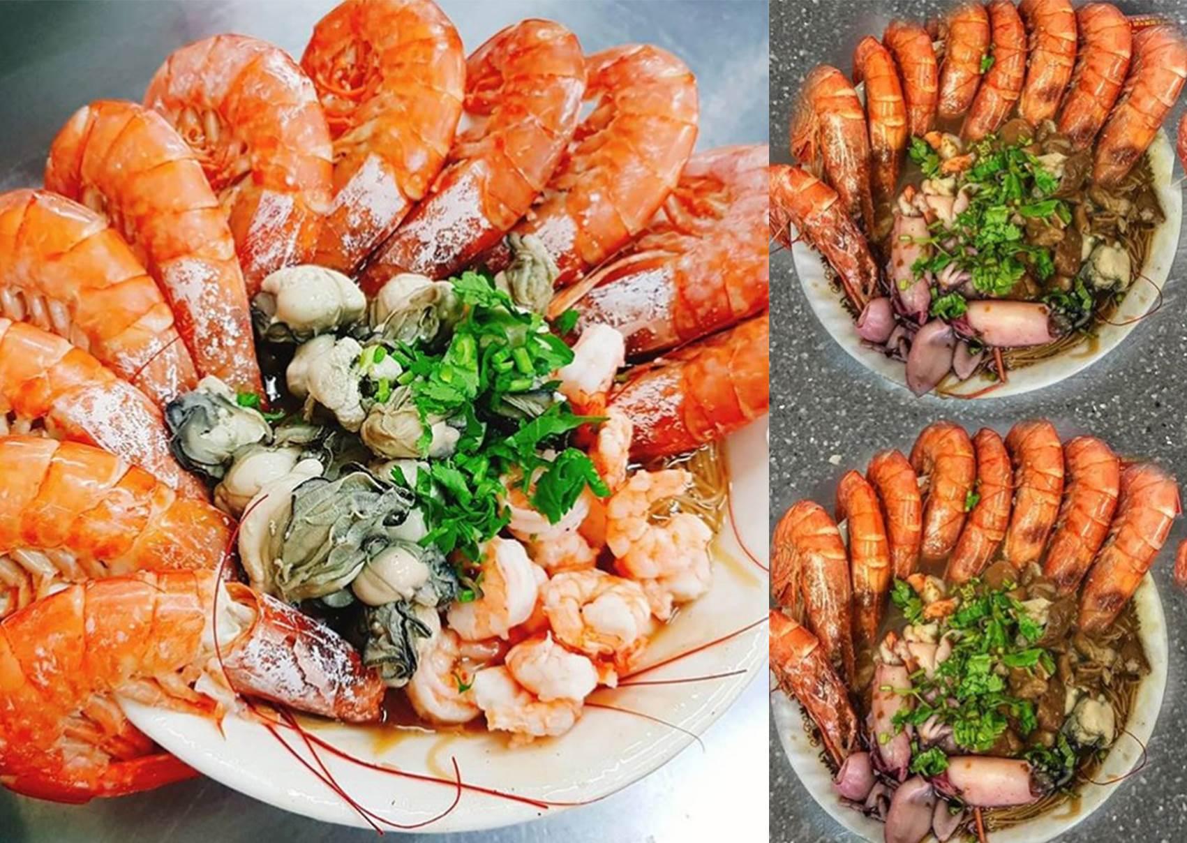 麵線吃到痛風?澎湃系「大腸蚵仔蝦仁麵線」94要你吃飽飽,滿滿海鮮竟還吃得到天使紅蝦跟干貝♥