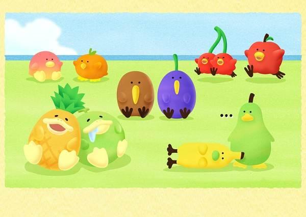 超呆萌鳳梨竟然是隻鳥?「熱帶水果鳥」第2彈報到啦,好想飛去小島跟他們一起度假啊♡