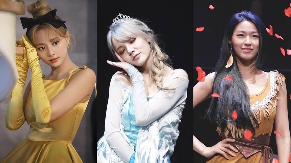 Twice宣傳照周子瑜好像貝兒!6位韓星Cos迪士尼公主,潤娥可愛,雪炫神還原寶嘉康蒂!