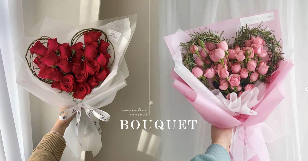 2020韓妞IG洗版「愛心花束」!滿滿玫瑰組成「浪漫大愛心」,經典花朵重新排列就美哭~