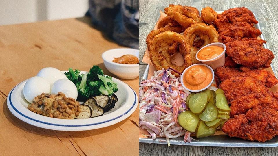 TIPS 1:選擇調味簡單、顏色淡的食物