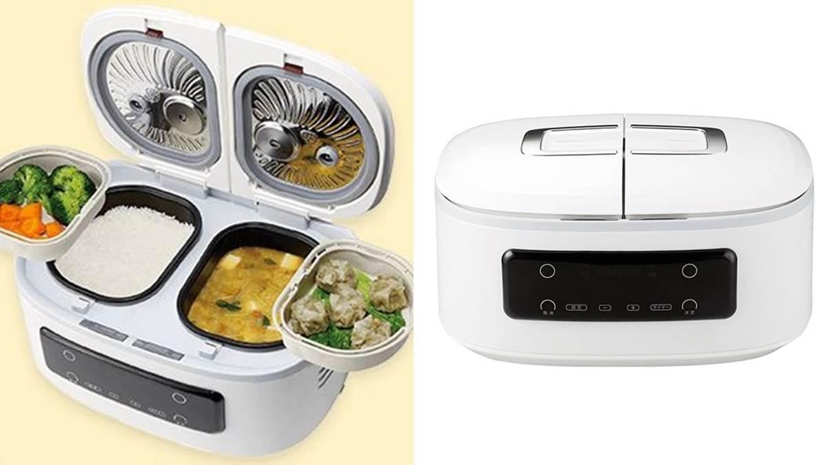 一桌好菜按按鈕就搞定!智能飯鍋一次煮白飯、菜色共4道料理,根本是「懶人煮飯神器」!