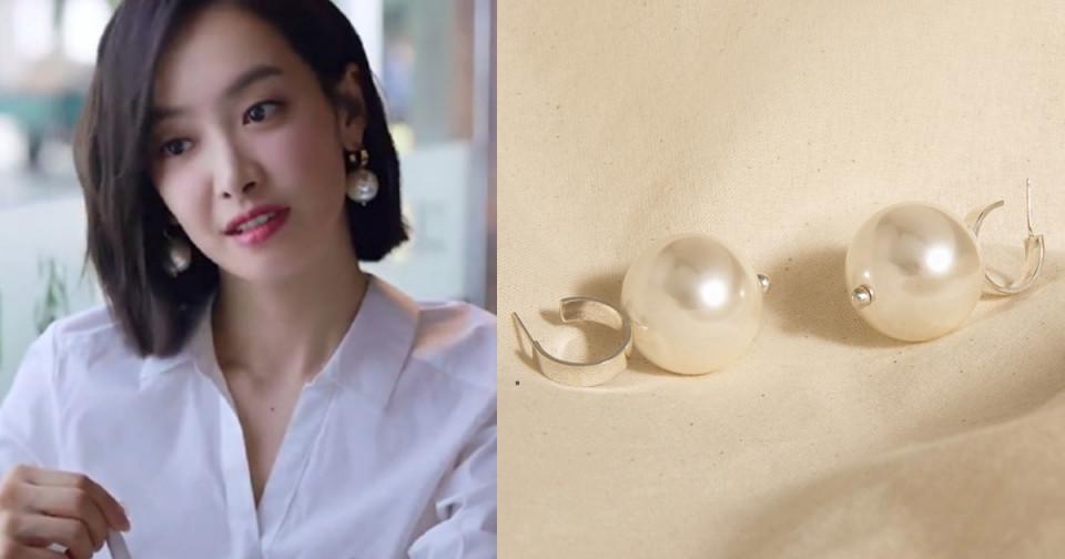 宋茜耳環1:yvminWhiteFishBay/Spindrift Tassels Earrings,RMB.1400(約NT.6045)