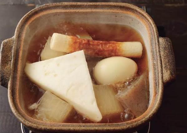 關東煮食譜:沒有步驟!只要記得把蘿蔔和蒟蒻切成這種形狀煮,就會更美味!