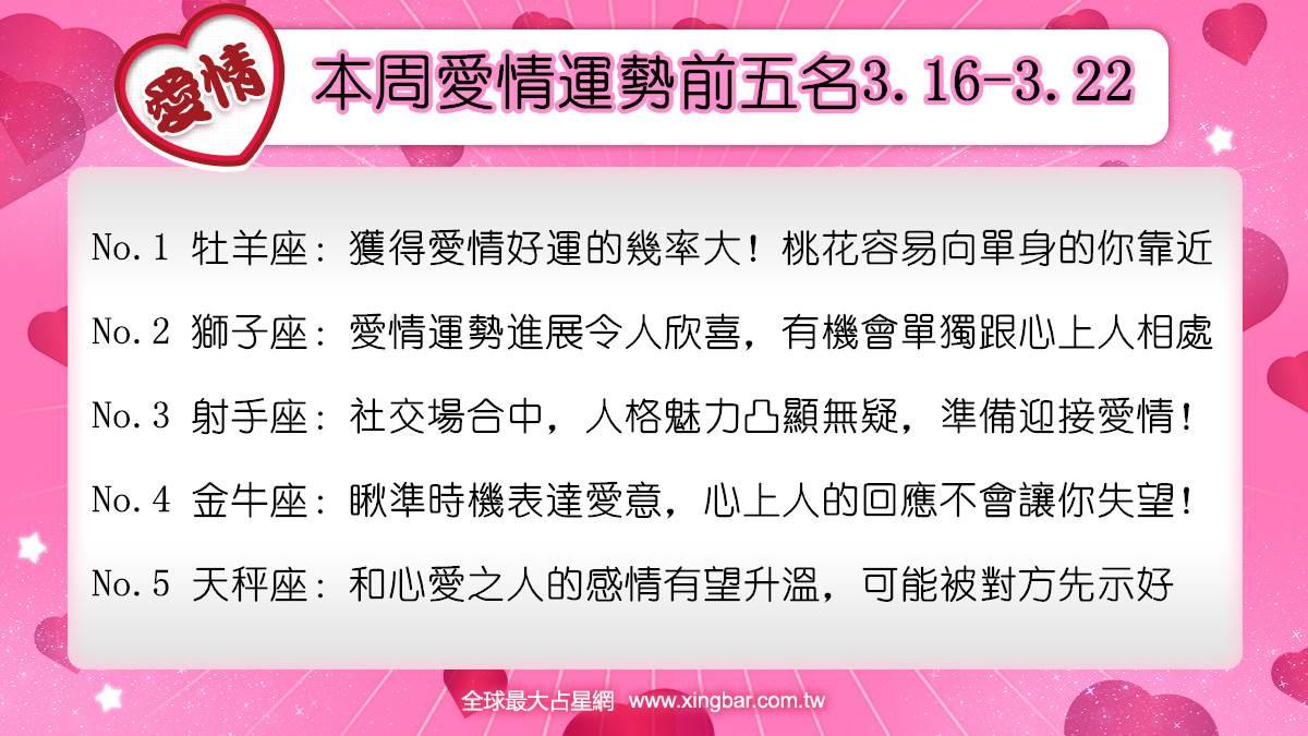 12星座本周愛情吉日吉時(3.16-3.22)