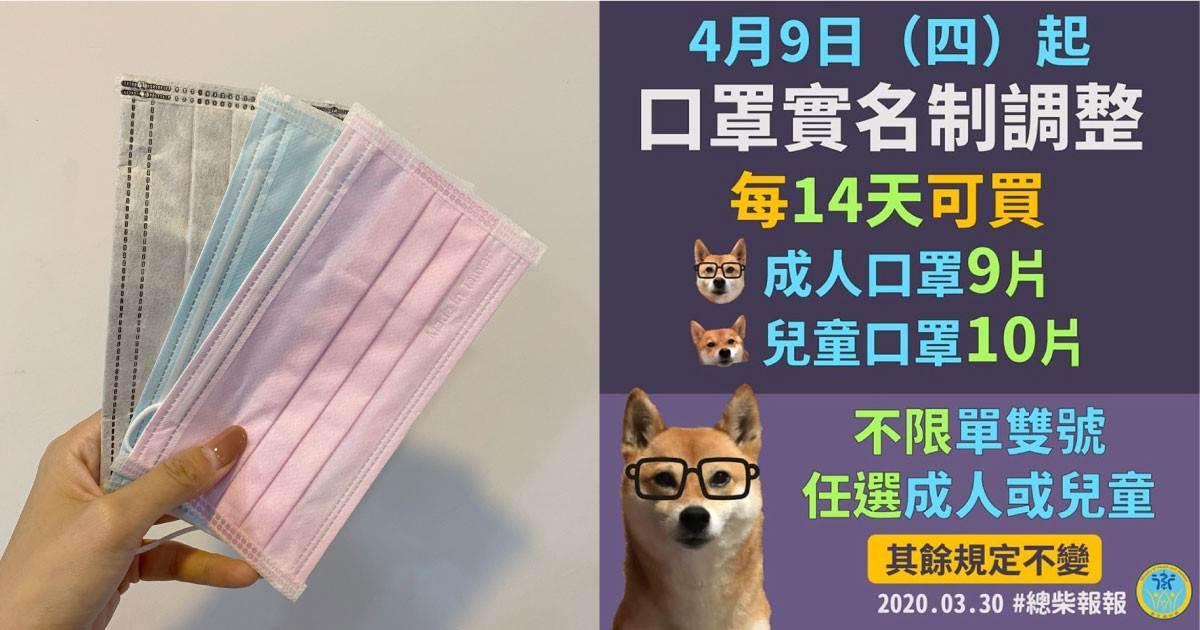 「口罩實名制3.0」即將上路!每14天可買9片成人口罩,擬開放四大超商直接插卡購買~