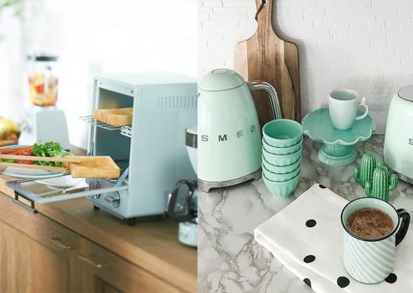 少女心大爆發!絕美「蒂芬妮藍小家電」讓家秒有咖啡廳風情,花邊茶具就算不懂下廚擺著也開心啊~