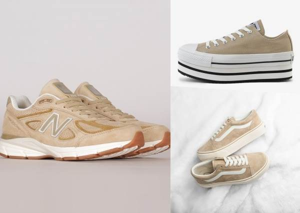 怎麼搭都好看!5雙網路話題王「霧色系拿鐵可可鞋」, Converse那雙帆布鞋真的是嬌小女孩的救星♥️