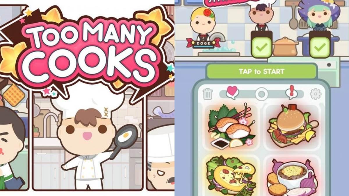 號稱手機版《煮過頭》!全新推出《Too Many Cooks》烹飪遊戲,友情破壞系遊戲Online~