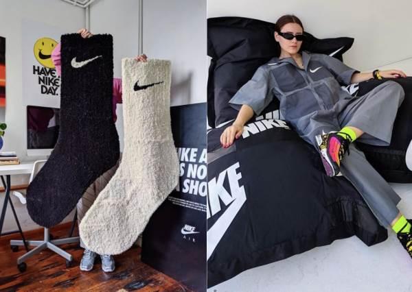給巨人穿的襪子?超狂瞎趴「巨人白襪地毯」拿在手上比人還高,到底有誰能穿得下這雙襪子啦~