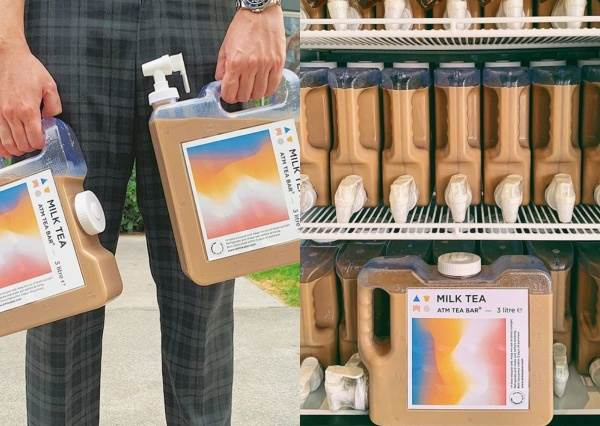把家裡的飲水機換成泰奶吧!飲品店推出「3公升泰奶飲水機」,還有隨身攜帶版奶茶控要暴動喇~