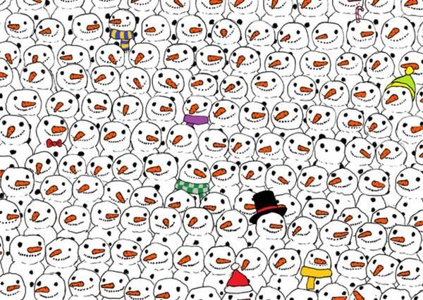 能從雪人堆裡找到熊貓嗎?沒玩過這些小遊戲你的聖誕節就不完整了~