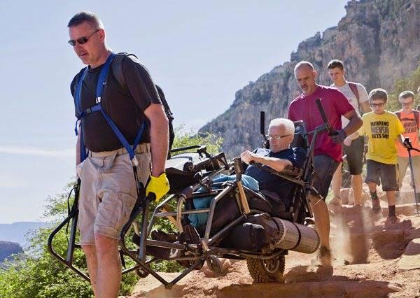 下半身癱瘓也能登上大峽谷,成功背後藏著偉大的感人故事...