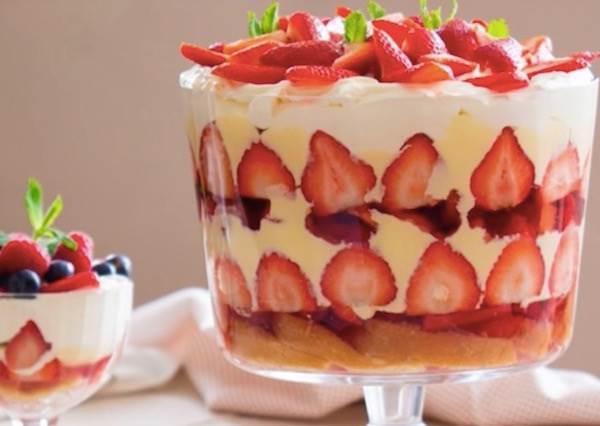 這道豪氣又甜美的《英式草莓鬆糕》不用烤箱也能做!?