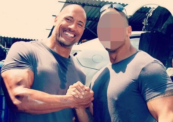 巨石強森御用替身曝光,除了一樣有鋼鐵肌肉外,重點是比他還帥!?