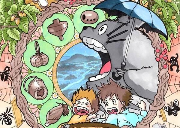 宛如庫洛牌!讓人每張都想收藏的宮崎駿卡通慕夏風格畫報!
