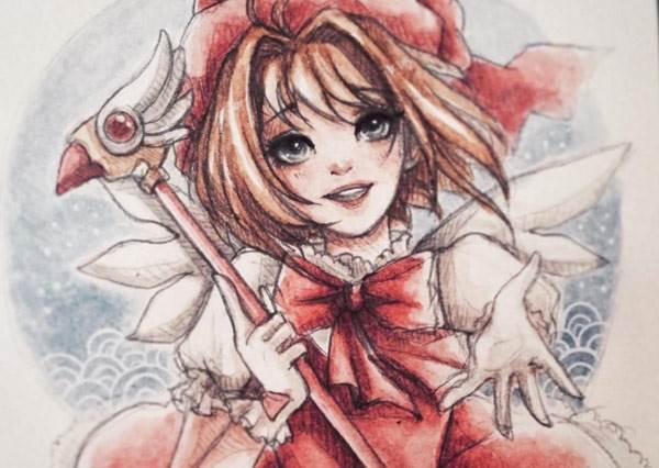 眼睛水汪汪,夢幻少女漫畫版的卡通人物插畫帶你走入懷舊的氛圍裡!