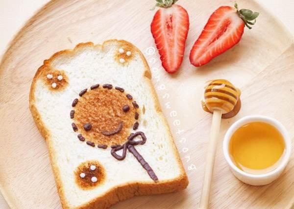 誰說只吃白吐司很無聊?超可愛卡通造型早餐,這麼美的襬盤要我每天早起也願意呀!