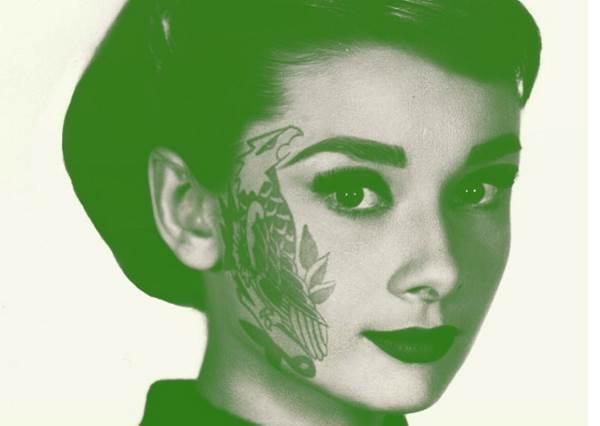 奧黛麗赫本居然有刺青?令你出乎意料的好萊塢大明星華麗刺青?