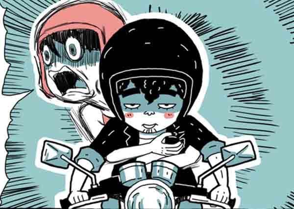 看完秒懂!圖解男生和女生騎機車的反應,差別最大的竟然是後座乘客?