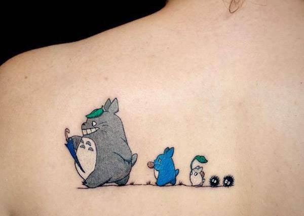 師傅請幫我刺好刺滿!超可愛飾品系刺青正流行,就是想把我愛的龍貓吉吉刺在身上一起出門啊~