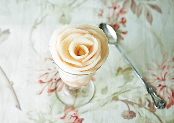 引爆少女心的「水蜜桃優格雪酪」&「水蜜桃吐司」怎麼能不學會? 想切得漂亮關鍵就是要用熱過的刀子?