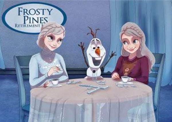 再美的迪士尼公主都逃不過時間這把刀!看完艾莎的晚年照我決定去買眼霜...