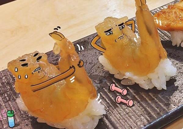 嘿咻嘿咻~夏天快到蝦子也苦練起人魚線!超有梗食物的各種諧星魂日常,無情狂風求你別再吹阿伯的頭啦~