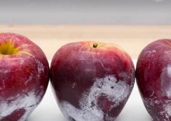 他把熱水淋到蘋果上...下一秒畫面讓你驚覺「原來蘋果應該這樣洗過才能吃」!