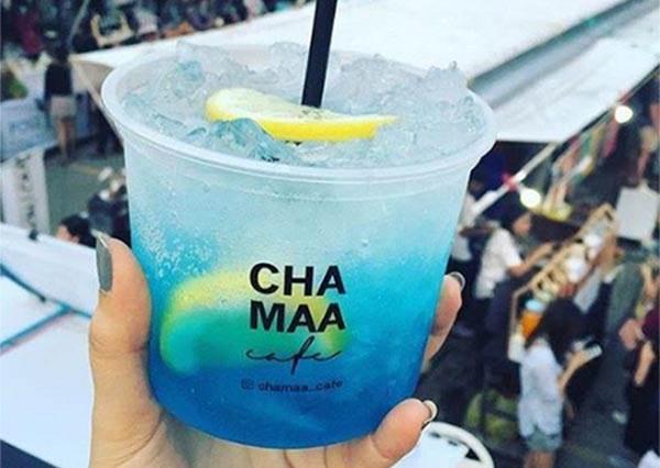 【泰國曼谷Chamaa Café推出七彩繽紛消暑飲品】不管夕陽還是海洋你都可以喝得到啦~