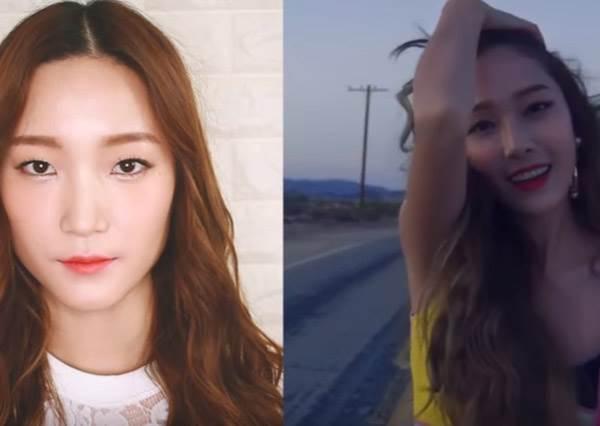 沒想到Jessica最新專輯的甜美妝,訣竅不在腮紅,是記得要在髮際線畫㊙㊙啦!