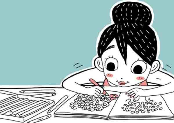 去年開團買的韓國繪本,進度到哪了?該不會連朵花都還沒畫完..