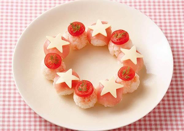 少女心是什麼? 讓日本女孩來告訴妳,就是連捏壽司都要做成很夢幻的《花環壽司》!