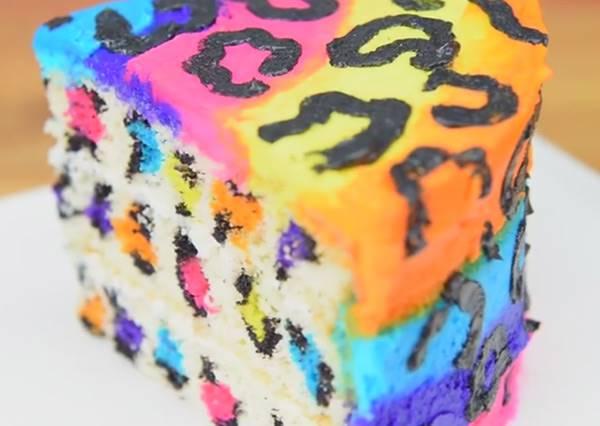 讓眼睛為之一亮的彩紅豹紋蛋糕~在家DIY也能成功做出既狂野又時尚的迷人點心!