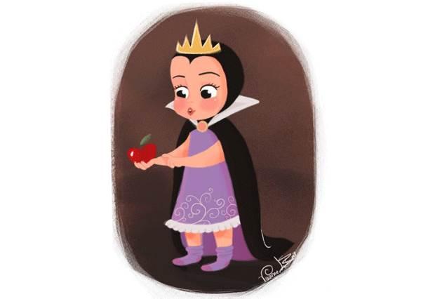 小時了了大未必佳?!《迪士尼反派的美好童年》,壞皇后不過是個愛吃蘋果的蘿莉呀!