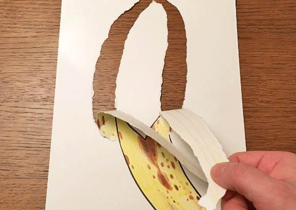 紙一撕就變立體了!只用一張白紙就能玩出超有感的3D效果插畫