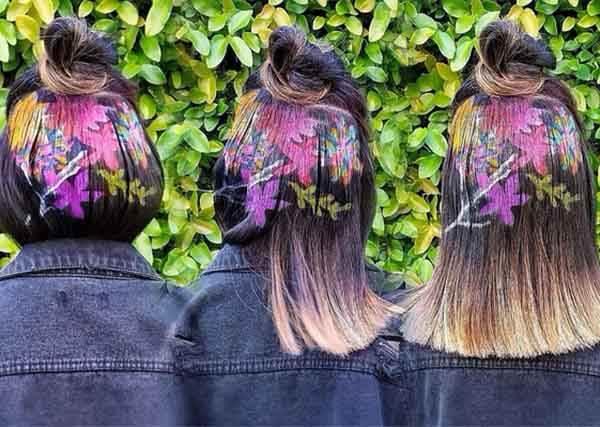 圓點、花朵都能跑到頭髮上? 這個最新染髮技術還只給87分就真的太過分了!