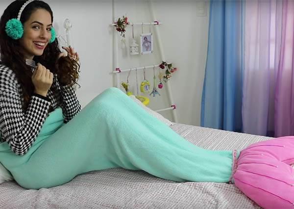 想當迪士尼公主很簡單!「美人魚尾毯」自己就能DIY