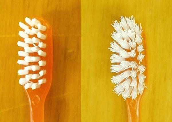 牙刷才用沒多久,就已經開花? 別擔心,一招讓牙刷瞬間跟新的一樣!