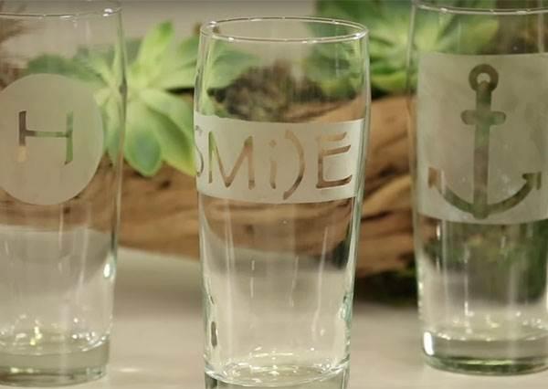 想要專屬杯子嗎? 只要用這招,自己有能完成美麗圖樣玻璃杯!