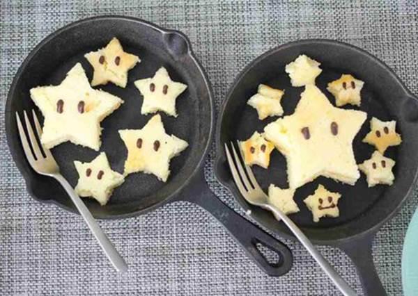 「瑪利歐的超級星星鬆餅」簡單食譜教學!第一次試做就上手成功
