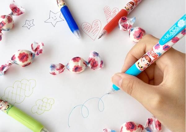 每一款寫出的字都有香香的糖果飲料味!櫻花妹最新入手「不二家」原子筆,根本是少女啊