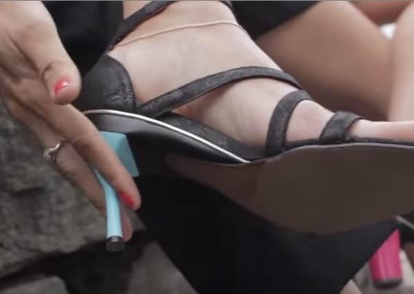 曾經腳痛到想把鞋跟給鋸掉? 終於有人發明出「調整型高跟鞋」來拯救所有女人了!