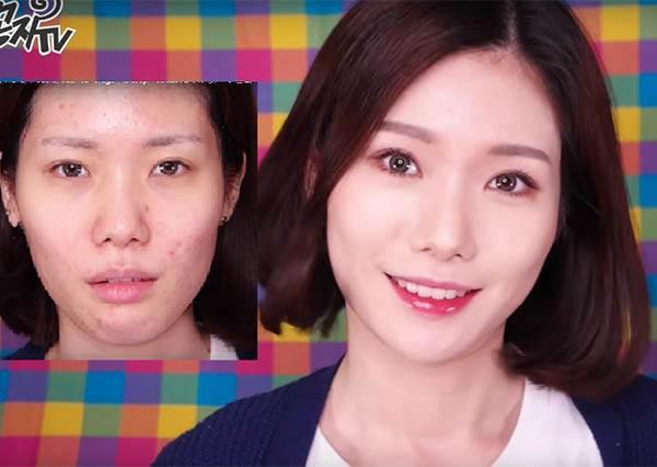 看到這個女生的化妝過程你才會驚覺原來韓國人的皮膚其實沒有很好,厲害的是化妝技巧!?